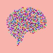 BrainMemory TopArt - Picture of brain using coloured dots