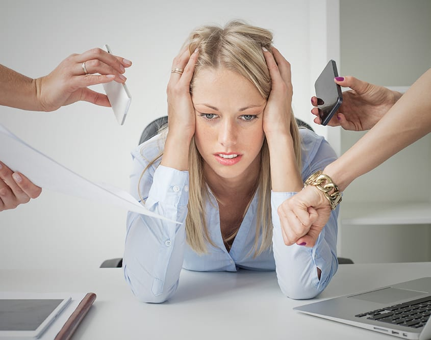Stress Management Counselling Melbourne - Business Woman Dealing with Stress
